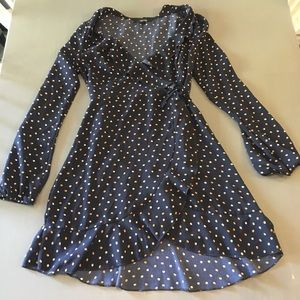Forever 21 Polka Dot Ruffle Wrap Dress